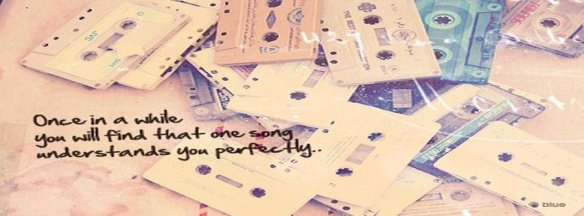 Cassette love music one song quote quotes  facebook covers